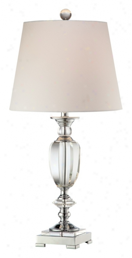 Vienna Full Spectrum Beveled Crystal Urn Table Lamp (m0473)