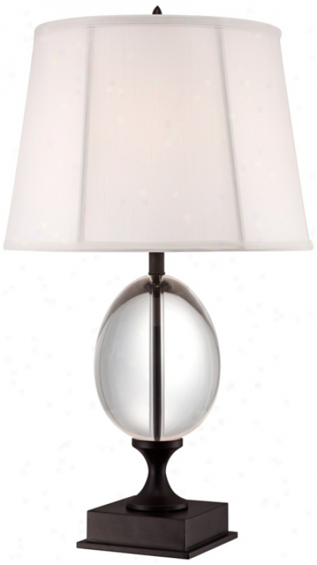 Viejna Full Spectrum Cystal Egg And Bronze Stand Table Lamp (u7294)
