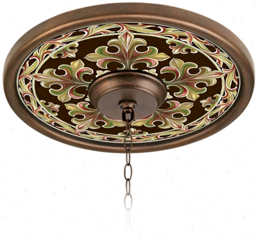 "Villa Bronze 16"" Wide Bronze Finish Ceiling Medallion (02975-h8826)"