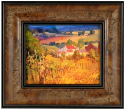 "Vineyard Hill Print 10"" High Wall Art (j4143)"