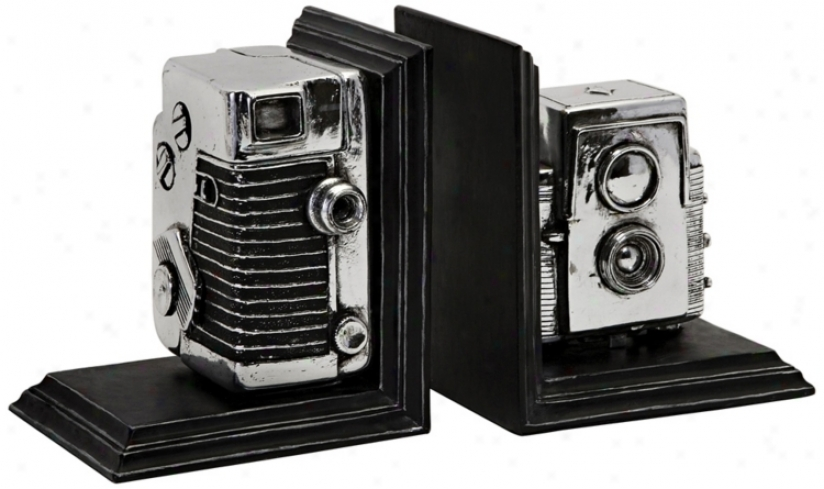 Vinyage Camera Bookends (n1295)