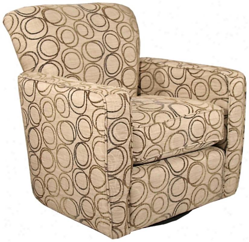Virginia Beacn Swivel Occasiojal Chair (p4773)