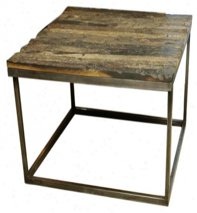Vista Sabdnlasted Natural Wood End Table (p1144)