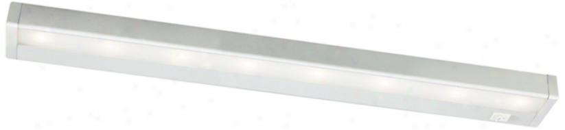 "W.a.c. Satin Nickel Led 24"" Wide Unxer Cabinet Light Bar (m6776)"