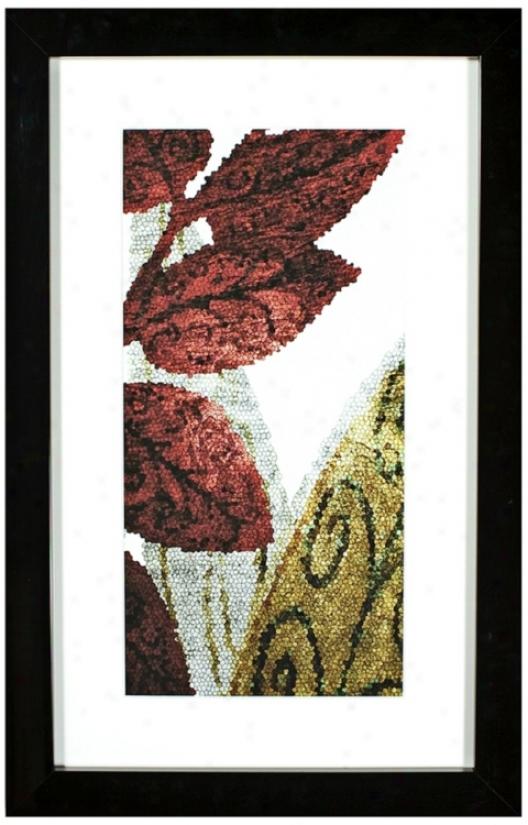 "Walt Disney Alice In Wonderland 34 1/4"" High Framed Wall Art (j5114)"
