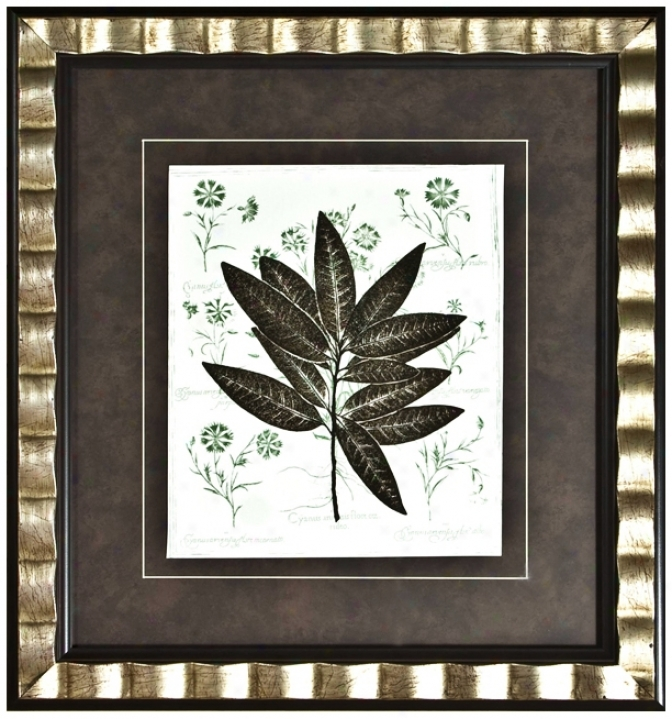 """Walt Disney Fantasia Milkweed Ii Framed 22"""" High Wall Art (j2802)"""