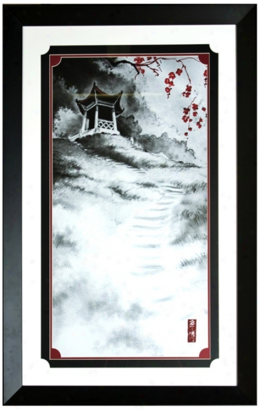 "Walt Disney Mulan Ancestors Temple Framed 44"" High Wall Creation of beauty (j2889)"