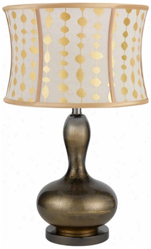 Walton Reverse Painted Glass Table Lamp (n4536)