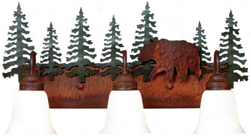 "Wasatch Collection Bear 26"" Wide Bathroom Light Fixture (j0538)"