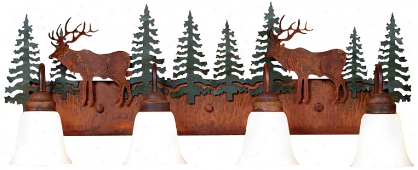 "Wasatch Collection Elk 36"" Wide Bathroom Light Fixture (j0542)"
