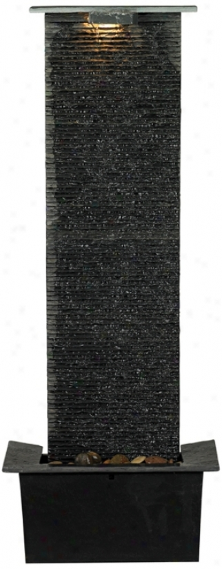 "Waterfall Slate 48"" High Floor Fountain (n5198)"