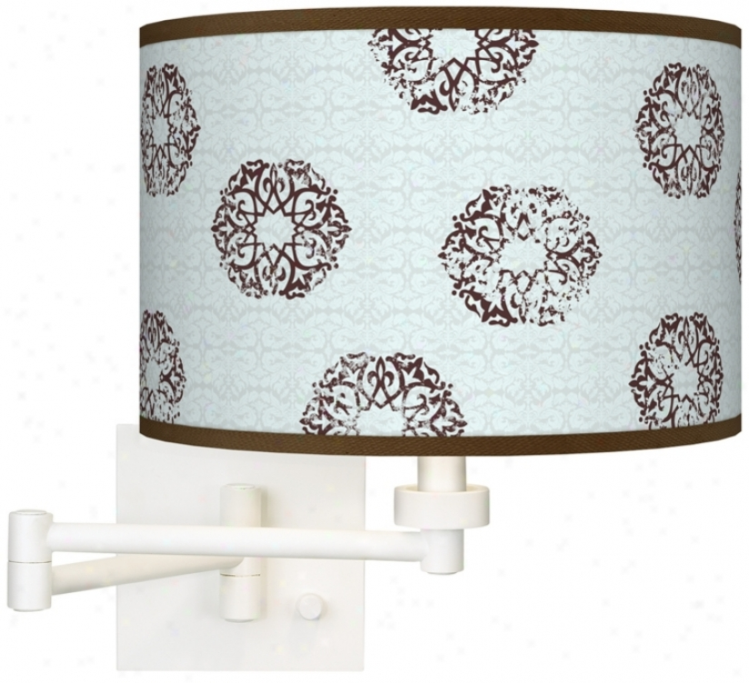 Weathered Medallion Giclee Pure Plug-in Swing Arm Wall Light (h6558-t8201)