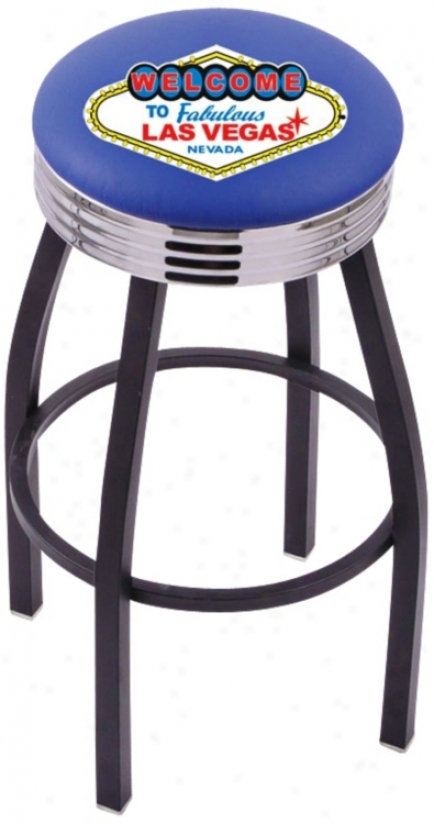 Welcome To Las Vwgas Retro Counter Stool (t9533)