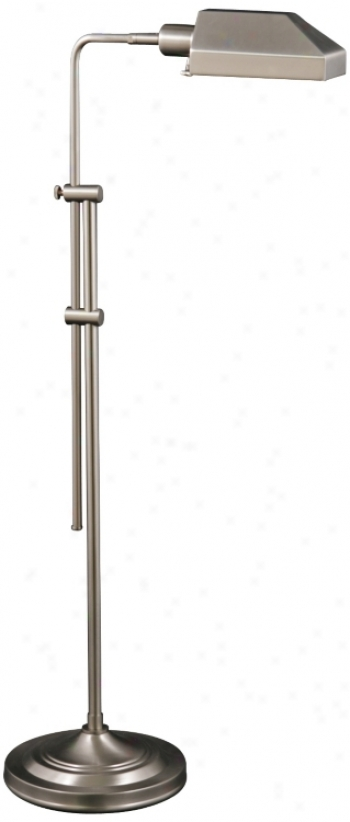 Westerly Satin Nickel Adjustable Pharmacy Floor Lamp (v0543)