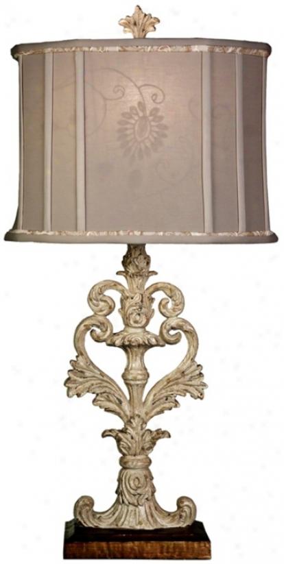 Westlake Finish Open Scrolling Table Lamp (u0080)