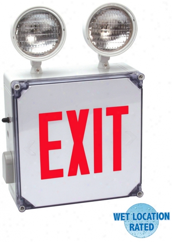 Wet Situation Red Emergency Light Exit Sign (54335)