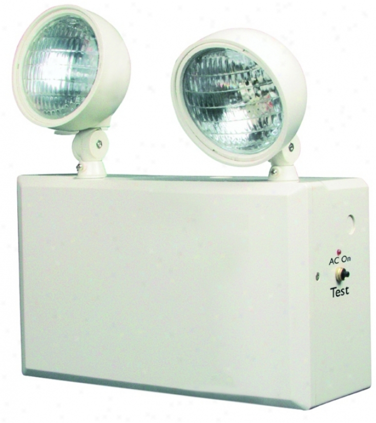 White 2-head 6v 100w Juncture Ljght (43180)