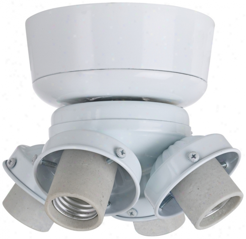 White 4-light Cfl Light Kid (m8161)