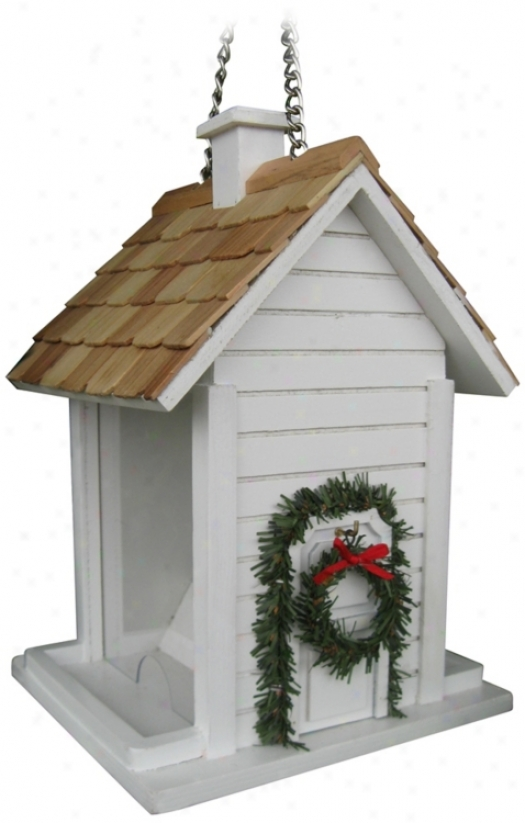 Of a ~ color Christmas Cottage Bird House (m8925)