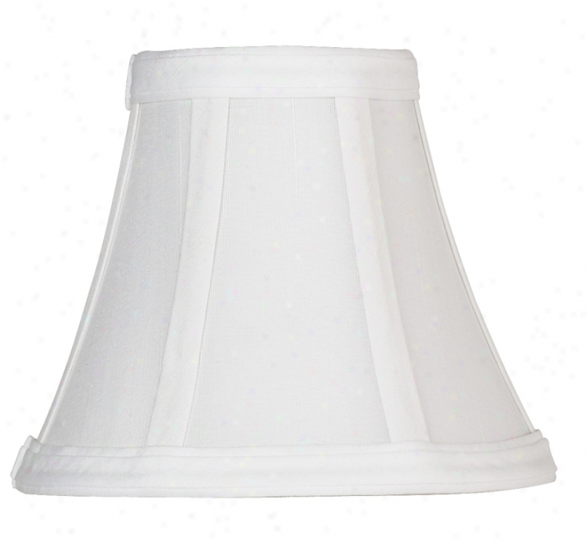 White Fabric Shade 3x6x5 (clip-on) (44135)