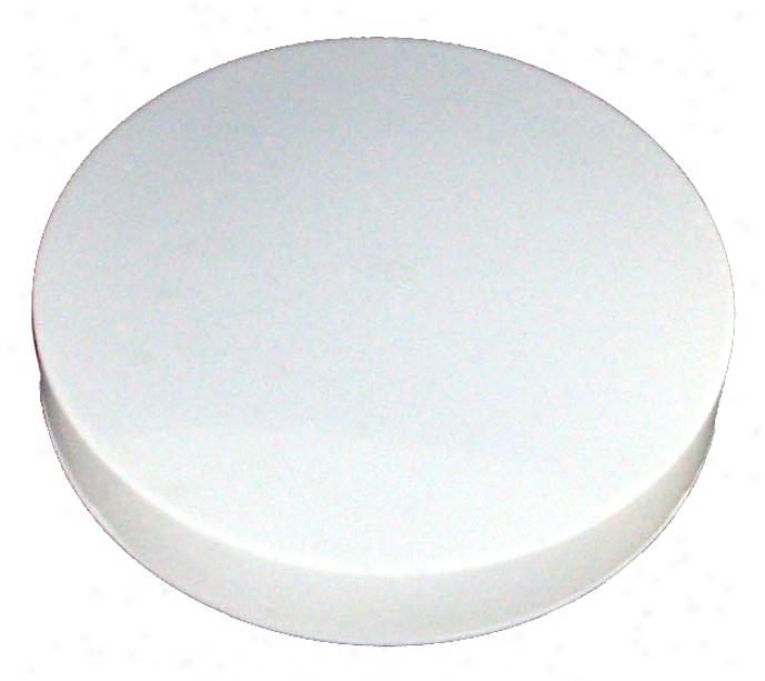 """White Finish 11"""" Wide Fluorescent Flushmount Celiing Light (92912)"""