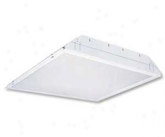 """White Finish 24"""" High 24"""" Wide Troffer (52957)"""