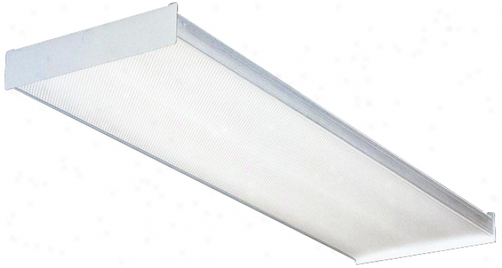 "White Finish 48"" Wide Fluorescent Ceiling Light (51314)"