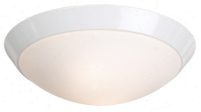 "White Finish Energy Efficient 11"" Spacious Ceiling Light Fixture (t6139)"