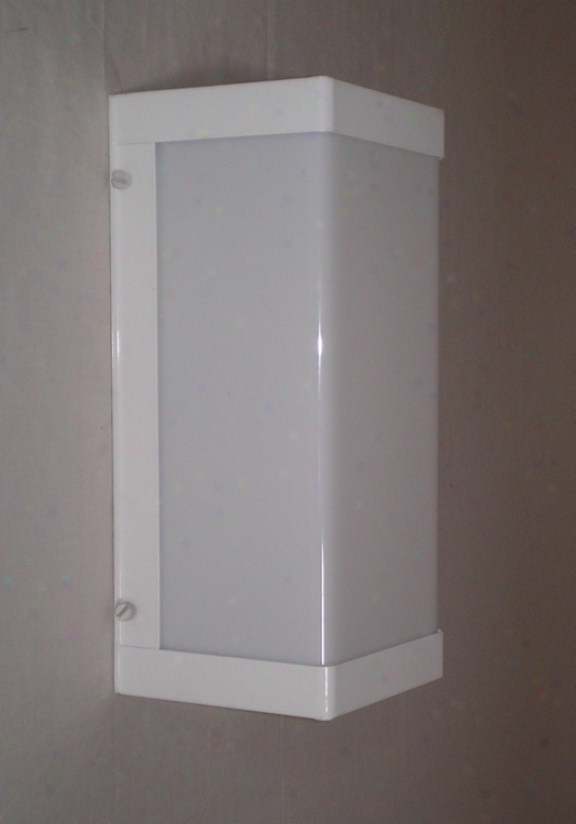 "White Finish Energy Efficient 12"" High Outdoor Wall Light (48773)"