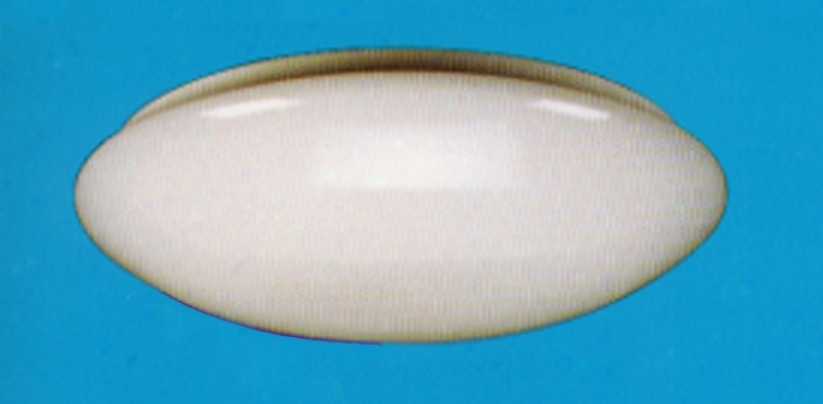 "White Finish Fluorescent 14 1/2"" Wide Mushroom Light (30935)"