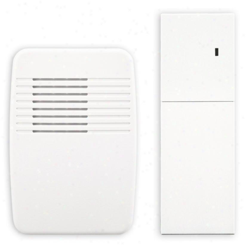White Finish Indoor Door Chime Extender (k6428)