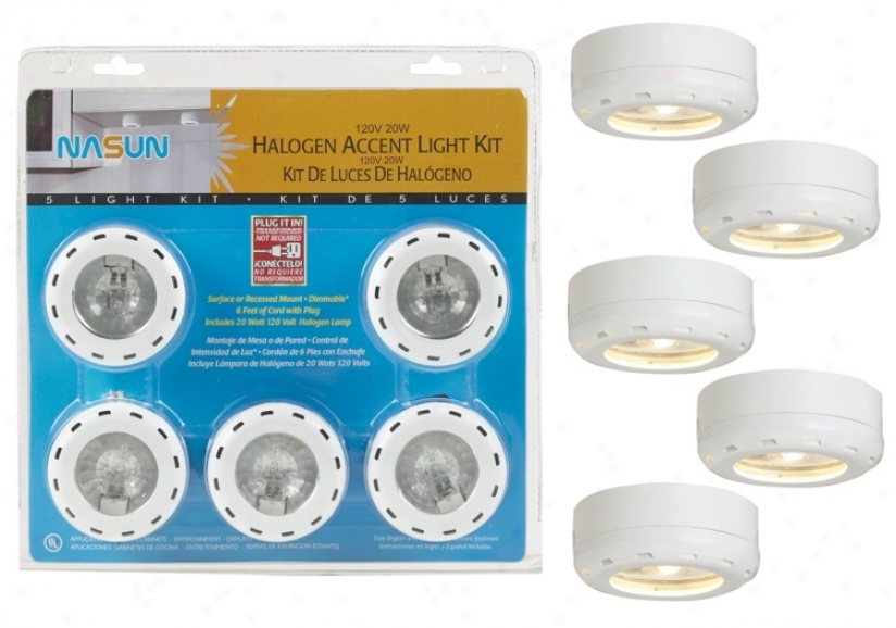 White Halogen 20 Watt 5-pack Pick Light Kit (86398)