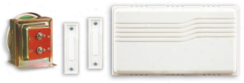 White Hardwired Lighted Buttons Door Chime Contracto Kit (k6223)