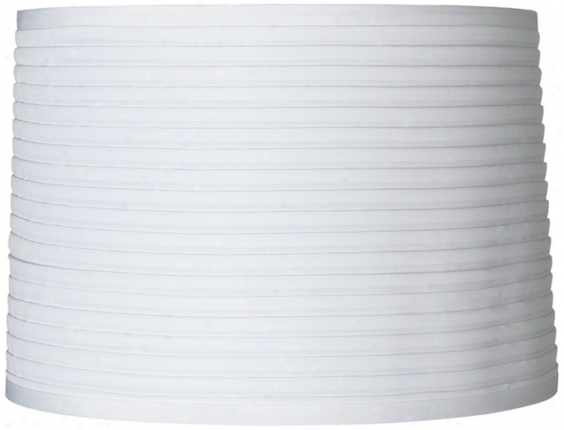 White Horizontal Pleat Lamp Shade 15x16x11 (spider) (2028)