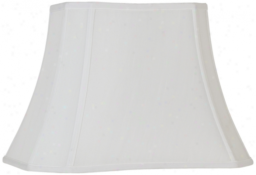 White Rectangle Cut Corner Shade (10x7)x(16x12)x11 (spider) (k9592)