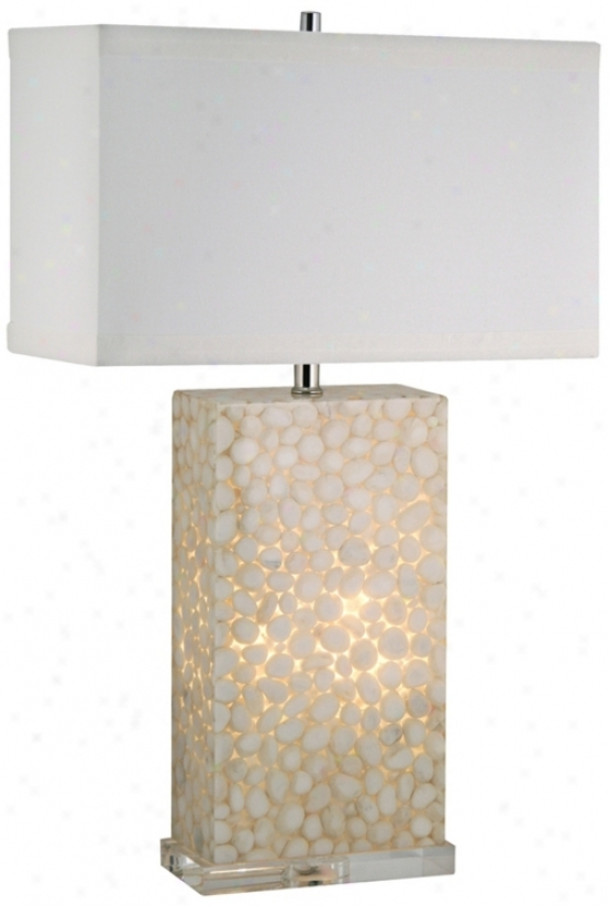 White River Rock Cream Acrylic Night Light And Table Lamp (v1791)