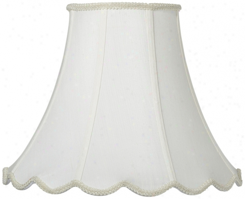 White Indent Bell Shade 6x14x11.5 (spider) (v9755)