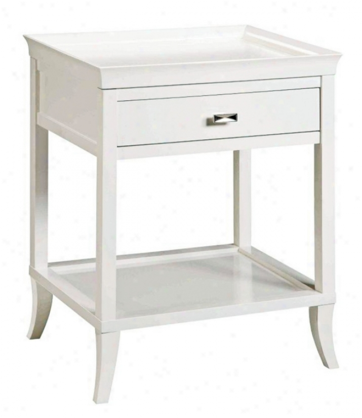 White Serving Tray Side Table (h8573)
