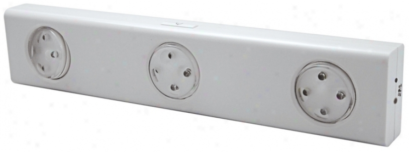 White Swiveling 3-hezd Led Under Cabinet Lkght (88443)