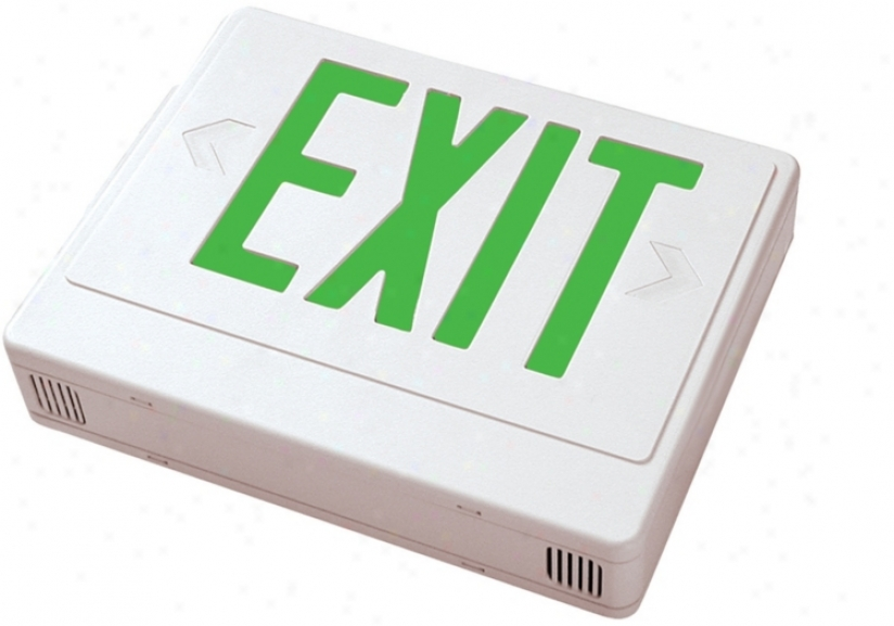 Of a ~ color With Green Led Exit Sign With Battery Backup (46898)
