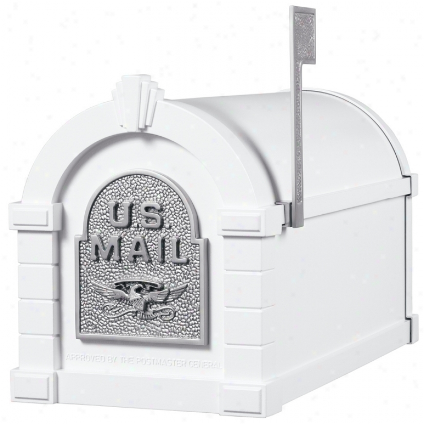 White With Sqtin Nickel Finish Keystone Mail6ox (32922)