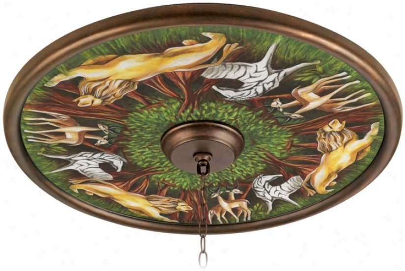 "Wild Forest 24"" Wide Bronze Finish Ceiling Medallion (02777-u3765)"