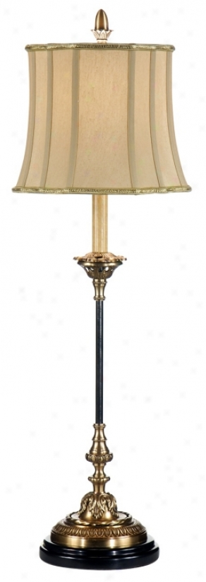Wildwood Perfect Confusion Antique Brass Buffet Table Lamp (p4147)
