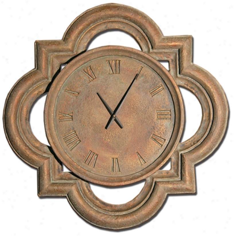 "Windsor 26"" Wide Battery Powered Wall Clock (m0267)"