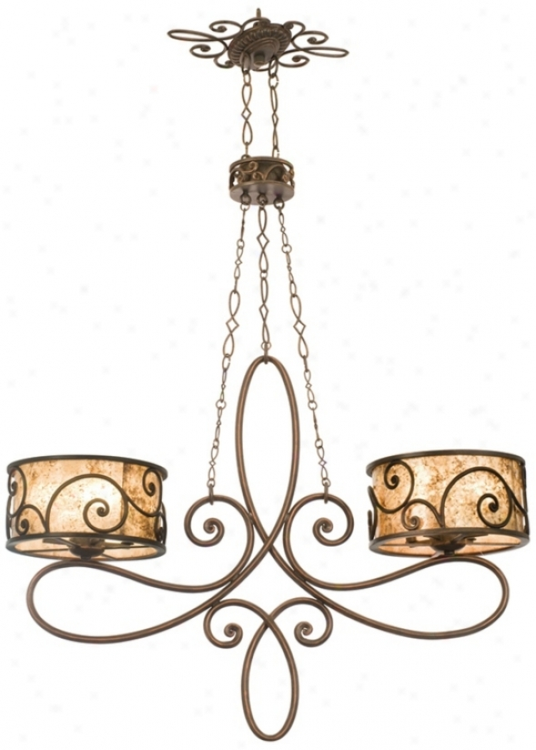 Windsor Collection Stained Mica 10-light Island Chandelier (80269)