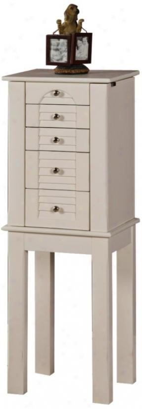 Winnipeg White 4-drawer Jewelry Armoire (t1829)