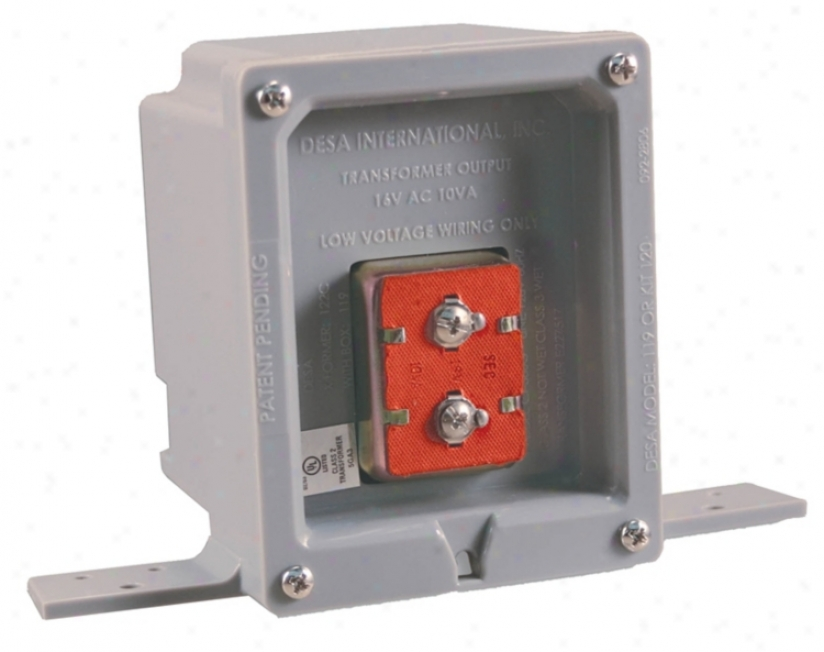 Wired Door Chime 16 Volt Rough-in Box Transformer (k6347)