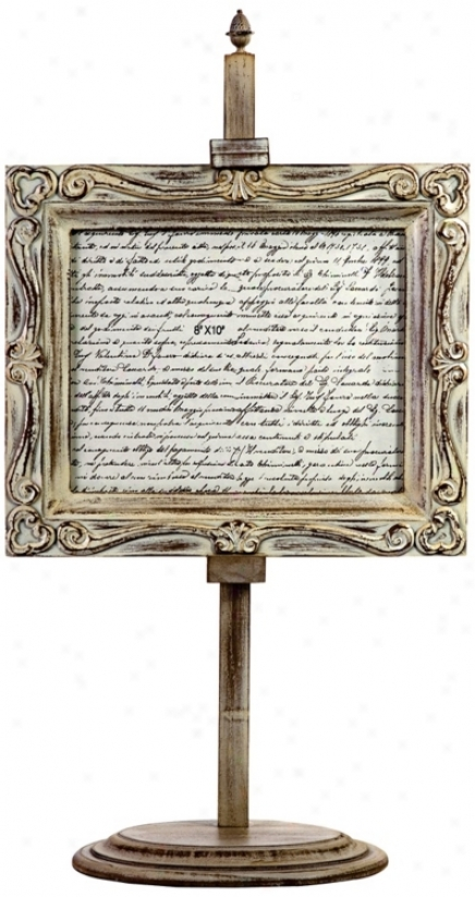 Wooden Photo Frame W/ Easel Stand (n1264)
