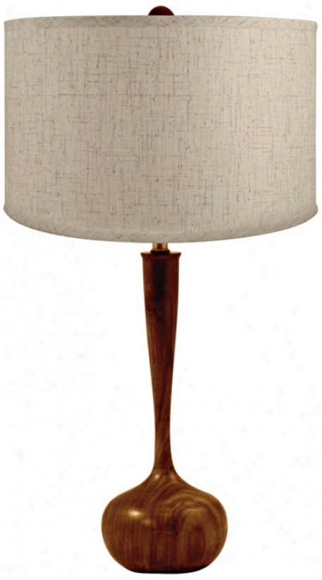 Wooden Tulip Bulb Table Lamp (n2196)