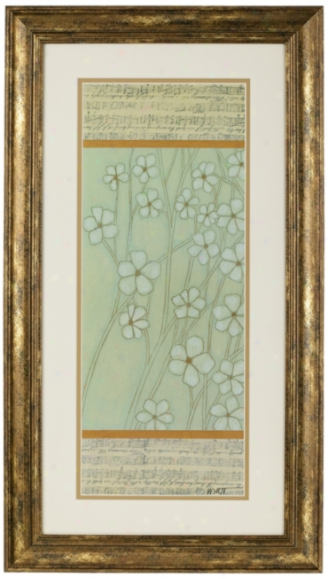 "Woodland Flowers Dual Matted Print 24"" High Wall Art (m3750)"
